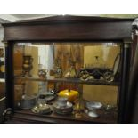 Empire style showcase ca. 1900. With contents