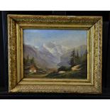 Oil on canvas Jungfrau. 26 x 35cm.