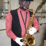 Life size Saxophone Player with Plexi QRS Piano