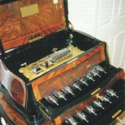 Fantastic Reuge Cylinder Music Box on matching table -Antoine Favre-