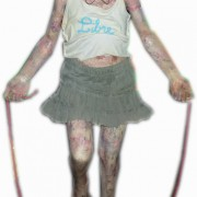 Art-Brut. Girl with rope