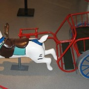 Charette carousel with rabbit