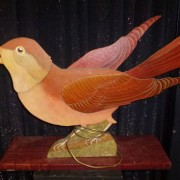 Painted on wood bird