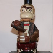 Jocko the Monkey drinking Linemar