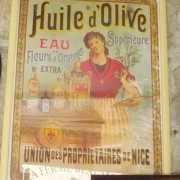Framed Poster Advertising Olive Oil