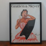 Framed poster advertising Gratien & Meye
