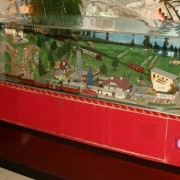 Model trains, animated scene