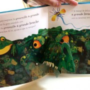 The Frog who had a Big Mouth. Pop-up book