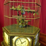 Birdcage with clock