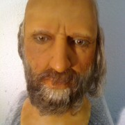 Male bearded  wax head