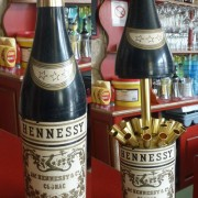 The bottle of Hennessy Cognac hides cigarettes
