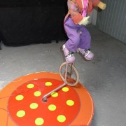 Clown on tricycle