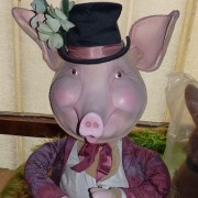 Pig with  hat