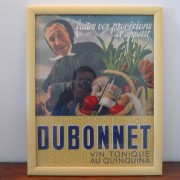 Framed Dubonnet advertising