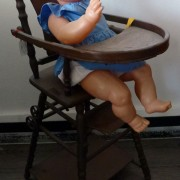 Little Baby in high chair