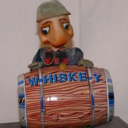 Turtle with Whiskey Barrel