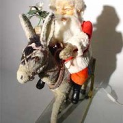 Father Christmas and his donkey